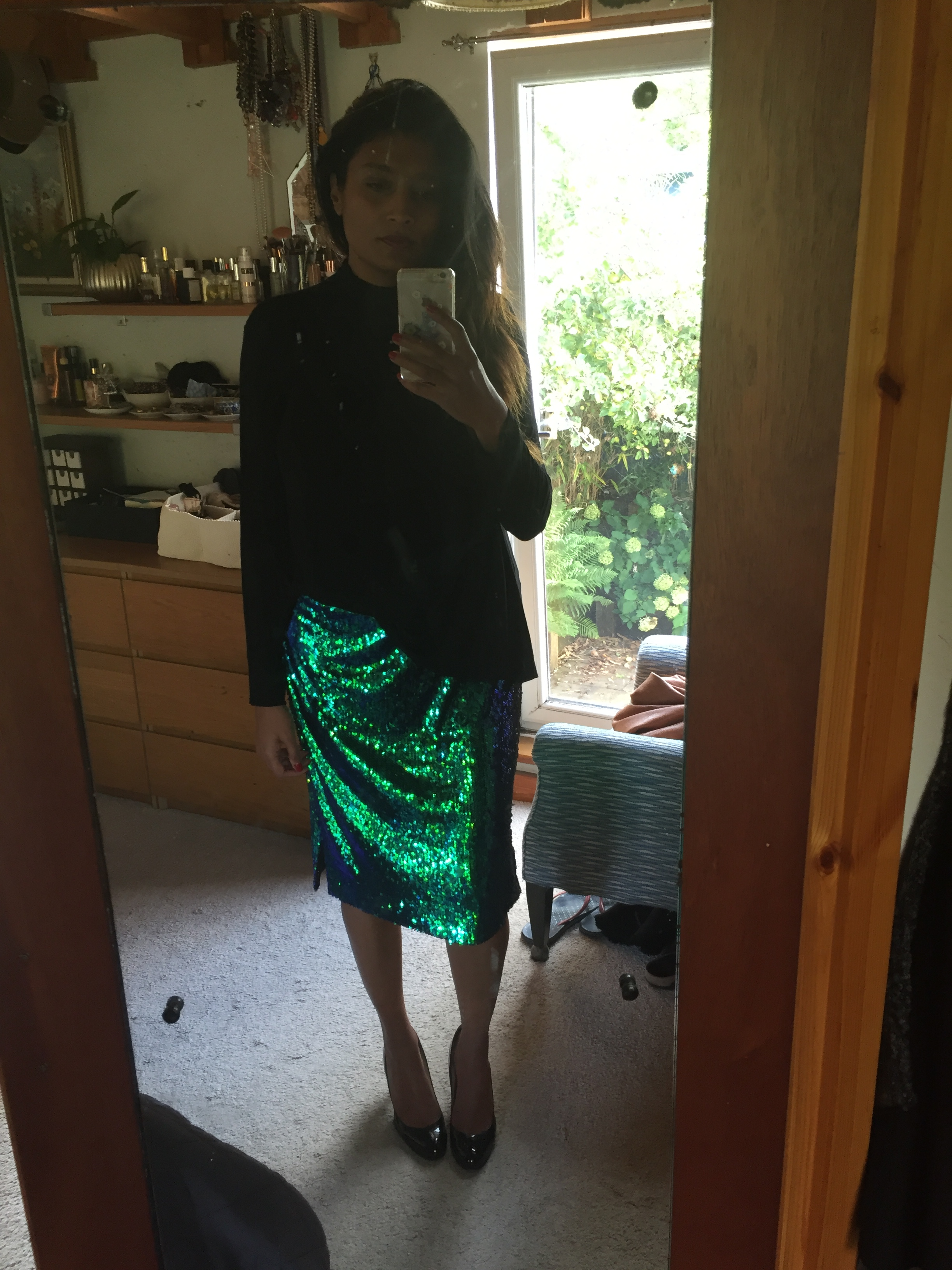 824a121497 And finally an old sequin skirt from New Look paired with an assymetric  knit from River Island.